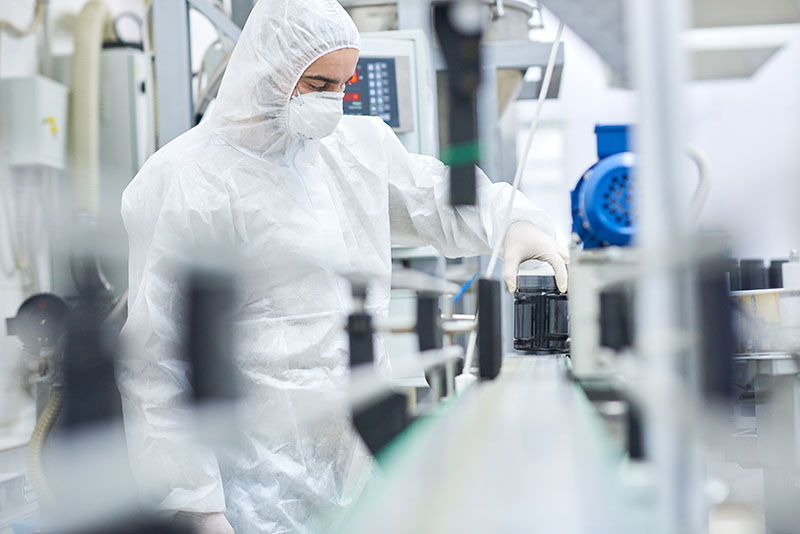 Usine de production pharmaceutique