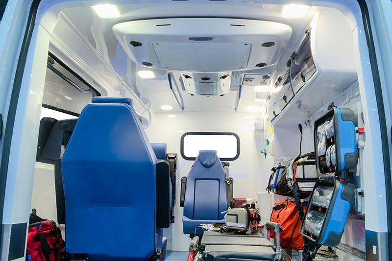 Ambulance et brancards